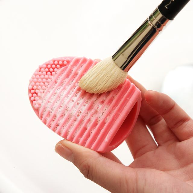 Силиконовая косметика для очистки основой для макияжа для очистки розовый / синий ...