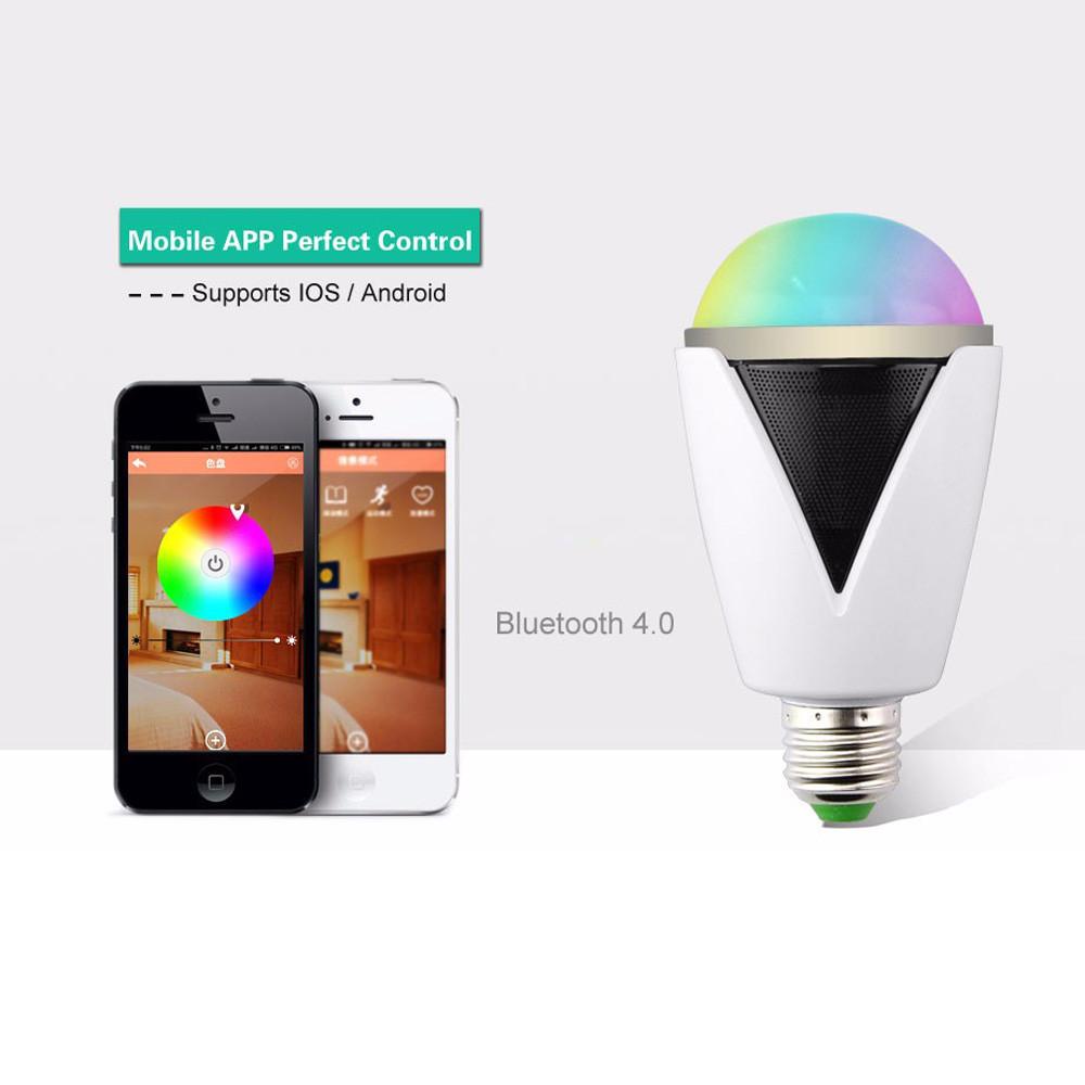 Bluetooth smart speaker rgb light bulb intelligent music for Bluetooth controlled light bulb