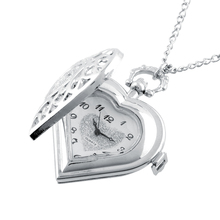 Hot New Fashion Vintage Retro Lovely Women Hollow Heart-Shape Pendant Necklace Chain Pocket Watch Gift(China (Mainland))
