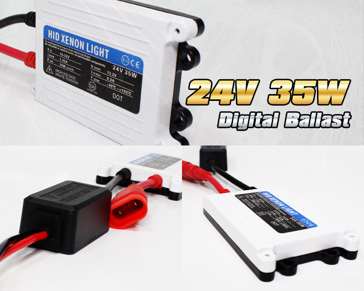 Wholesale 2pcs 24V DC 35W hid ballast Good Quality HID xenon slim digital ballast car ballast