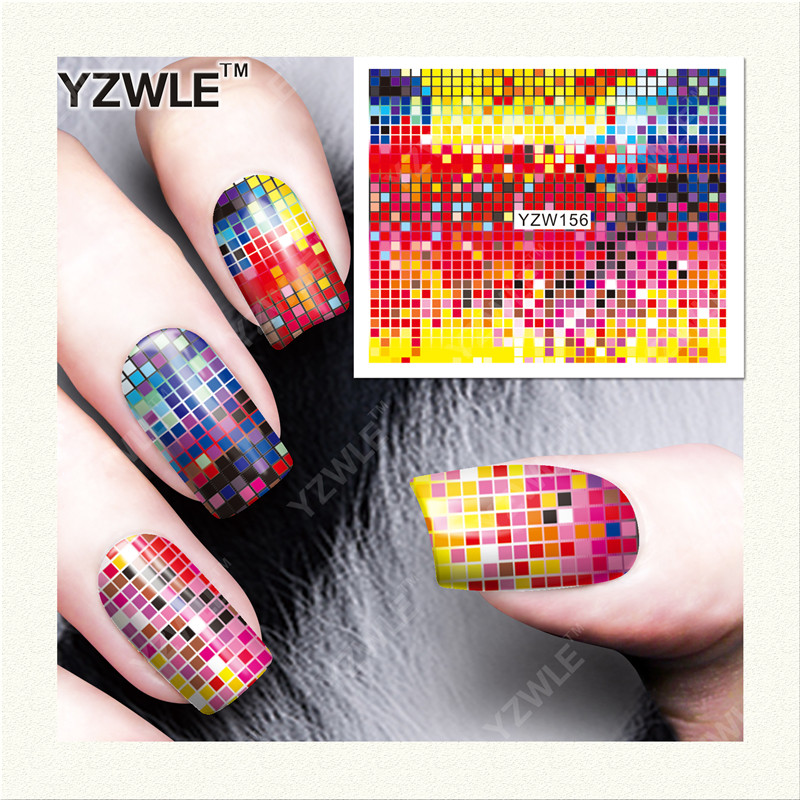 YZWLE 1 Sheet DIY Decals Nails Art Water Transfer Printing Stickers Accessories For Manicure Salon (YZW-156)(China (Mainland))