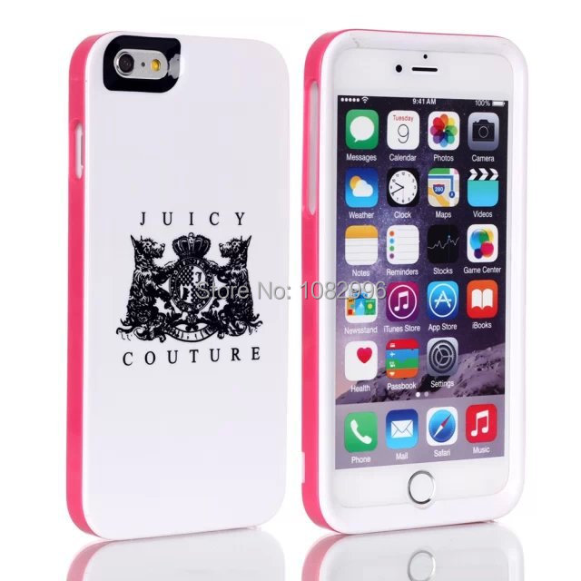 "New Arrival JC Tide brand Juicy Case for iPhone 6 4.7"" 3 in 1 Couture Plastic phone case Skin Cover capa celular(China (Mainland))"