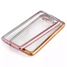 Slim Electroplate Transparent Back Cover For Samsung Galaxy Grand Prime G530H G531H G531F Soft Silicon Plating TPU Phone Case