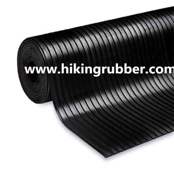 Broad Ribbed Rubber Floor 1 2m X 10m X 3mm Rubber Matting