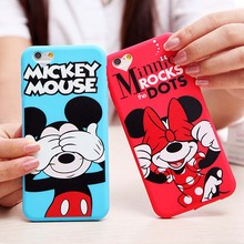 Buy iPhone 6 Case Cute Cartoon Minnie Mouse Soft Silicone Phone Cases Apple iPhone 6 6S 6/6S Plus 5 5S SE Back Cover Fundas for $1.32 in AliExpress store