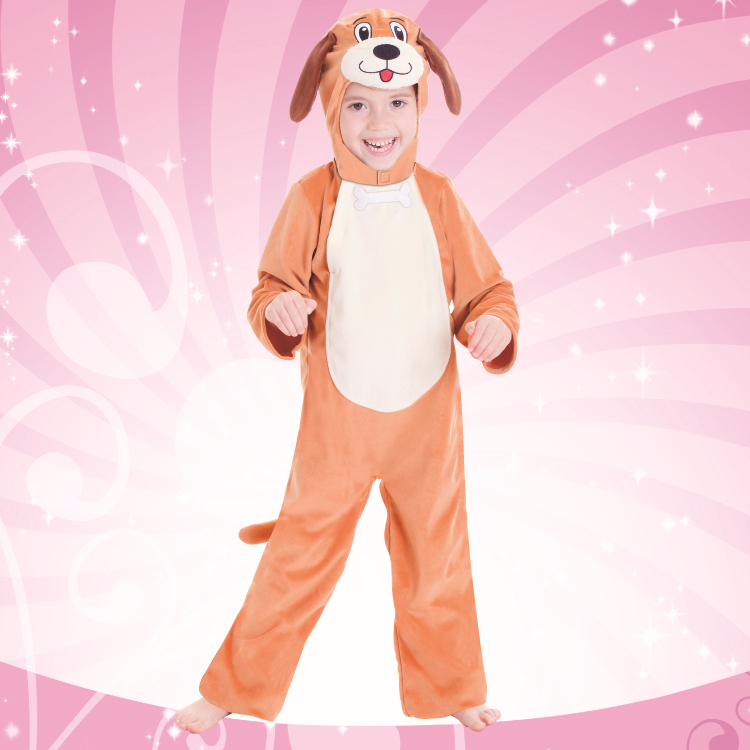 Retail Kids Comfortable Plush Dog Puppy Animal Halloween Christmas Cosplay Costume Carnival party Fancy dress for boy 3-7y(China (Mainland))