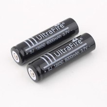 18650 Ultrafire 10pcs/lot 6000MAH 3.7V 18650 battery Li-ion rechargeable lithium  cell for led flashlight torch free shipping