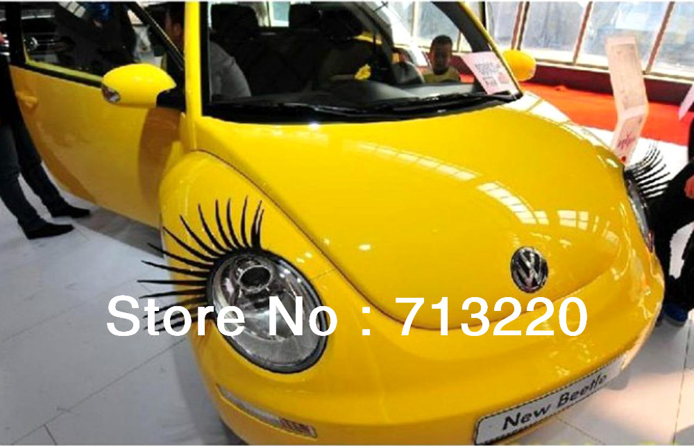 Fashion Car False 2015 Eyelashes Automobiles & Motorcycles Stickers Headlight Decorations Exterior Accessories  -  Topbai com store