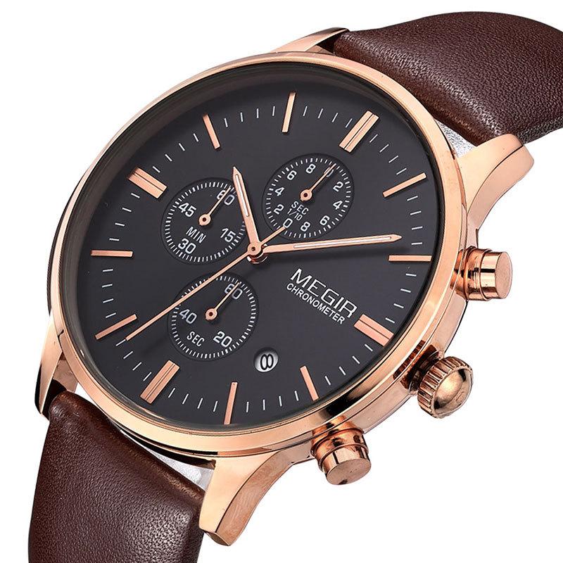 MEGIR 24 Relogio Reloj Hombre MEGIR Watch mne watch megir megir 6 24 relogio sl 3008