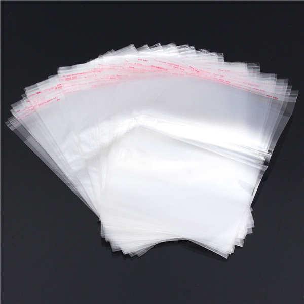 2016 New E4 Clear Resealable Cellophane/BOPP/Poly Bags 13x20cm Transparent Opp Bag Packing Plastic Bags Self Adhesive Seal(China (Mainland))