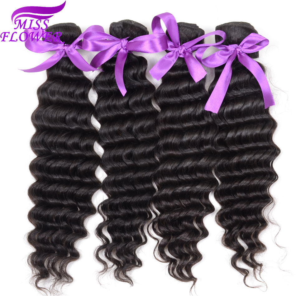 Brazilian Deep Wave Virgin Hair 4 Bundles Ms Lula Hair Products Brazilian Hair Weave Bundles 7A Unprocessed Human Hair Weave<br><br>Aliexpress