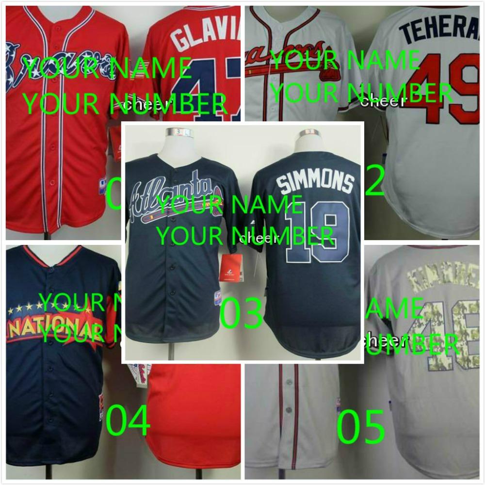Custom/Customized Atlanta Braves Jersey Any Name Any Number Baseball Jerseys Stitched Free Shipping<br><br>Aliexpress