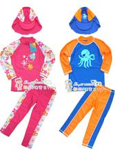 Child swimwear UV Protection +50 Swimming Suit boy two pieces long sleeve hot spring swimwear Cartoon Rash Guards Free ship