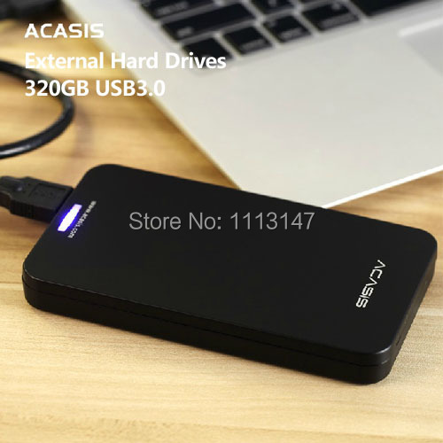 Free shipping 2.5'' Original ACASIS HDD 320G External hard drive High speed USB3.0 Portable Storage Plug and Play Good Prices(China (Mainland))