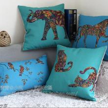 Colorful Horse Cat Bird Printed Cushion Cover Sofa