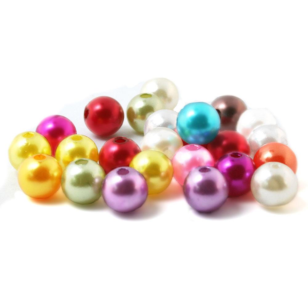 Hot Sale Free Shipping Random Mixed Acrylic Beads Pearl Imitation Round Beads 4.6.8.10mm Dia. (BSG01) Aa(China (Mainland))