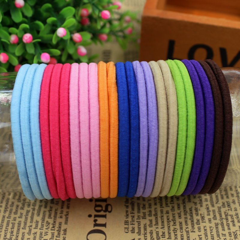 3pcs/lot 2015 New Fashion 11 Colours basic Hair Holder Rubber Bands Elastics Girl Women Hair Accessories Tie Gum Free Shipping(China (Mainland))