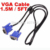 Free shipping Wholesale cheaper price 1.5m 5FT Standard VGA cable for mini projector PC and computer