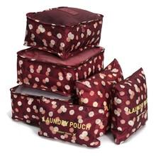 New 6pcs/set Women Men Travel Bag Waterproof High Capacity Luggage Clothes Tidy Portable Organizer Cosmetic Case(China (Mainland))