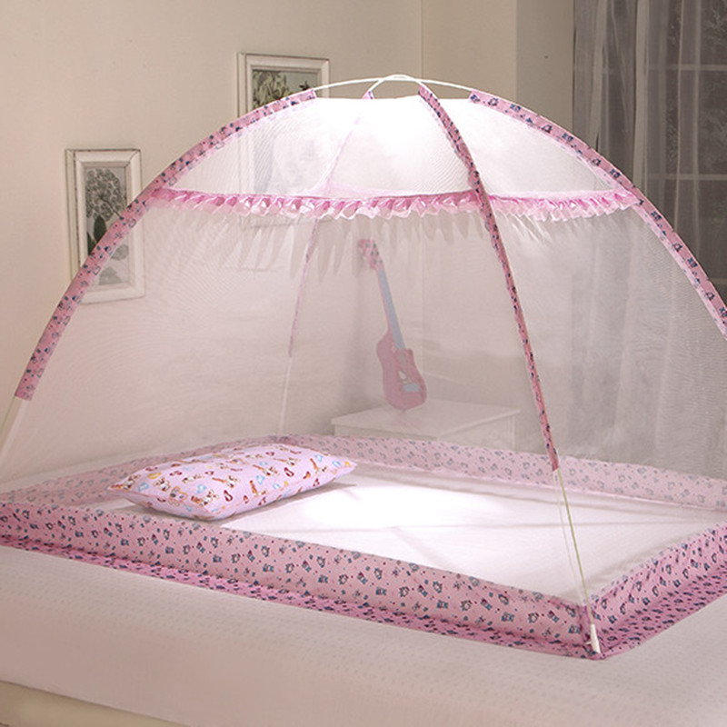 Anti-mosquito nets cot mosquito nets child-free installation bottomless baby bedspread encryption collapsible 2 color options(China (Mainland))