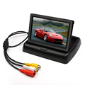 Car Foldable Monitor For TV Rearview Reverse Backup Camera Parking Assistance 4 3 TFT Folding LCD