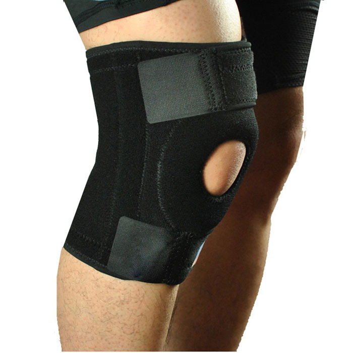 Free Shipping!2015 Hot football basketball volleyball black durable knee shin protector guard pad Knee Supports Kneepad Tonsee(China (Mainland))