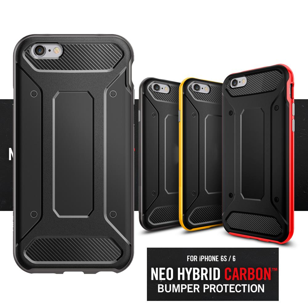 100% Original SGP Neo Hybrid Carbon Case For iPhone 6 / 6 Plus/ iPhone 6s / 6s Plus Fashion Shock-absorbing TPU Hybrid Case(China (Mainland))