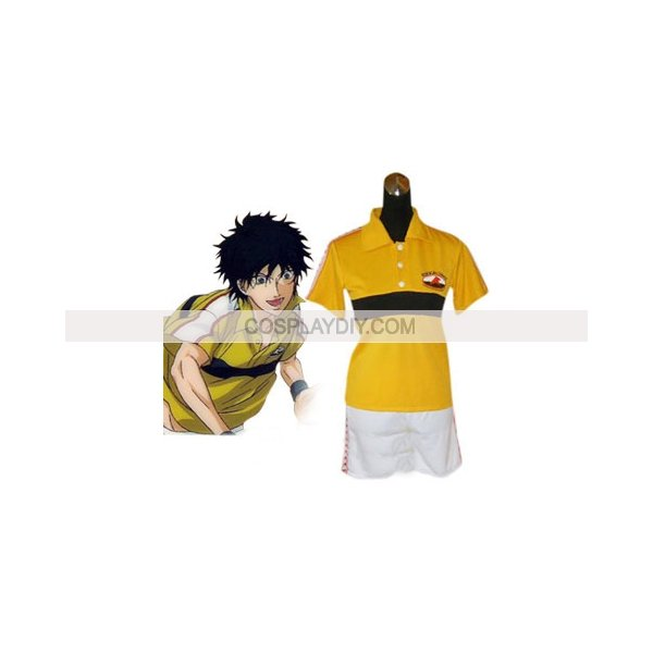 Hot sale Cheap custom-made Prince Of Tennis Rikkai Junior High School Summer Uniform Cosplay Costume(China (Mainland))