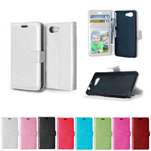 Buy Flip Case Sony Xperia Z 3 Compact Z3 mini D5803 D5833 M55W Case Solid color Photo Frame Phone Leather Cover Sony Z3mini for $4.27 in AliExpress store