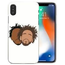 Trường hợp đối với iPhone XS Max XR X 10 7 7 S 8 6 6 S Cộng Với 5 S SE 5 4 S 4 5C Rõ Ràng Cứng PC Thời Trang Fundas Capa Điện Thoại Bìa J Cole Sinh Ra Sinner(China)