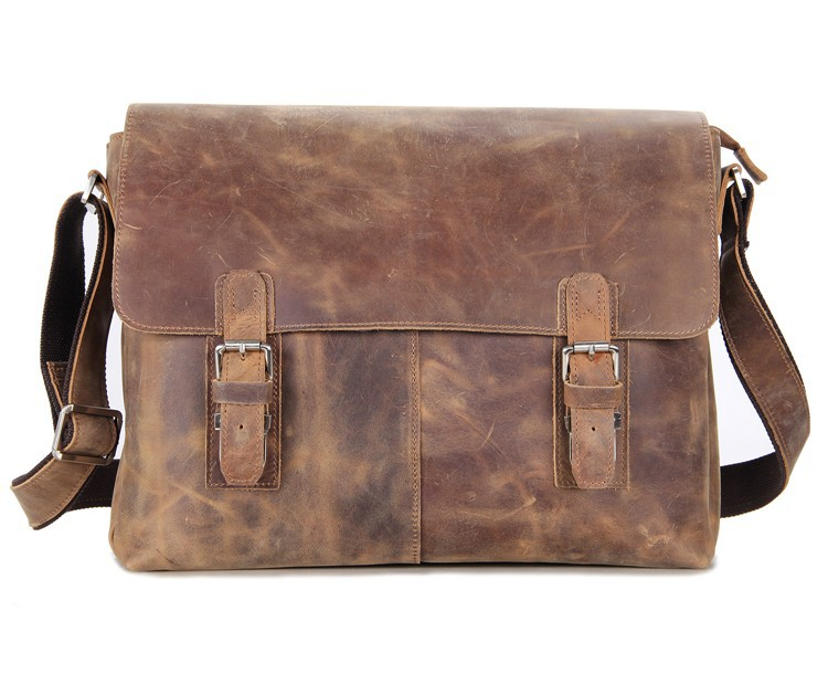 6002LR-1 Free Shipping JMD Vintage Crazy Horse Leather Men Message Bags(China (Mainland))