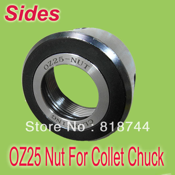 OZ25 M48 2 Tool Accessories Clamping Nuts DIN 6388 D Ball Bearing Version For OZ Collet