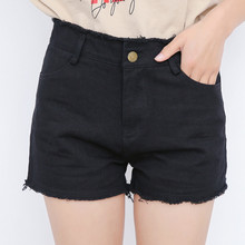 2018 Anal Baru Celana Pendek Denim Musim Panas Pendek Feminino Plus Ukuran Tinggi pinggang Denim Jins Kasual Lubang Denim Celana Pendek Plus Ukuran 4XL 5XL(China)