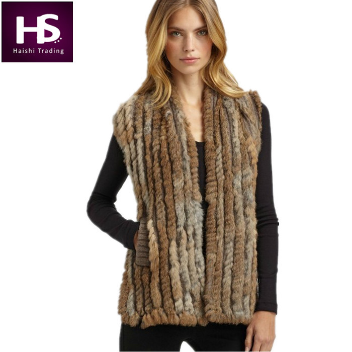 Authentic Designer Clothing Wholesale Lots Real Fur Vests Fashion