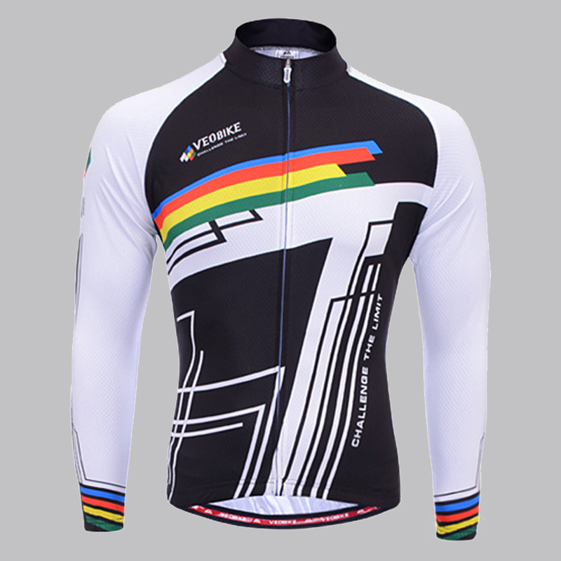 New Brand Slim Spring And Autumn Wicking Cycling Jersey Breathable Quick Drying Long Sleeve Clothes Outdoors Ride Bike UV Tops<br><br>Aliexpress
