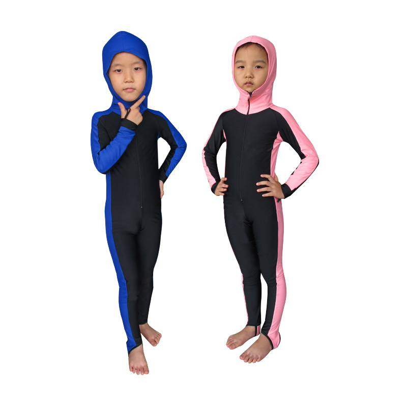 Sbart Kids Surf Full Body Swimwear Diving Suit Long Sleeve Swim Suit Wetsuit For Spearfishing