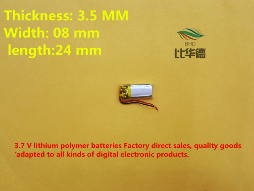 (free shipping)Polymer lithium battery 3.7 V, 350824 350825 can be customized wholesale CE FCC ROHS MSDS quality certification<br><br>Aliexpress