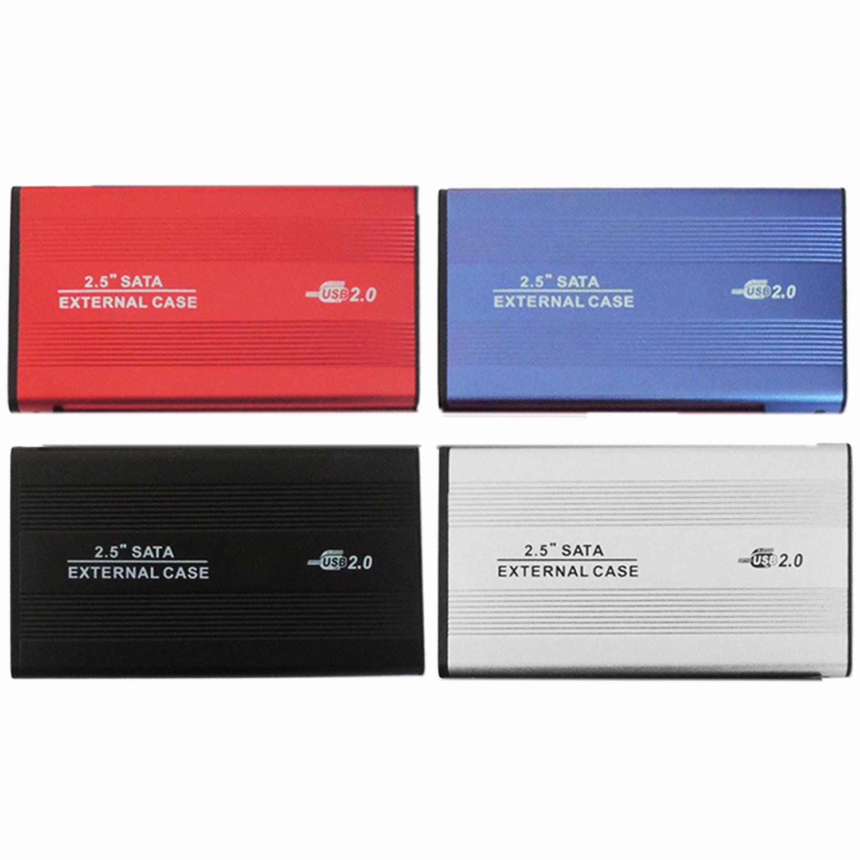 2.5 Inch Shockproof USB 2.0 Aluminum External Storage SATA Hard Drive HDD Enclosure Box Case(China (Mainland))