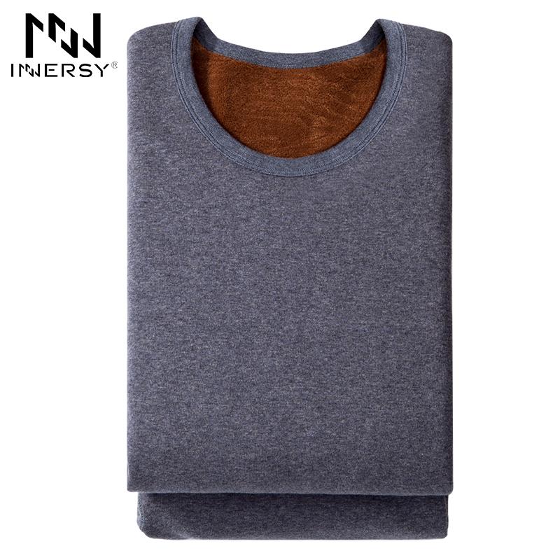 Innersy Underwear HotWinter Mens Warm Thermal Underwear Mens Long Johns Thermal Underwear Sets Thick Plus Velvet Long Johns Sets