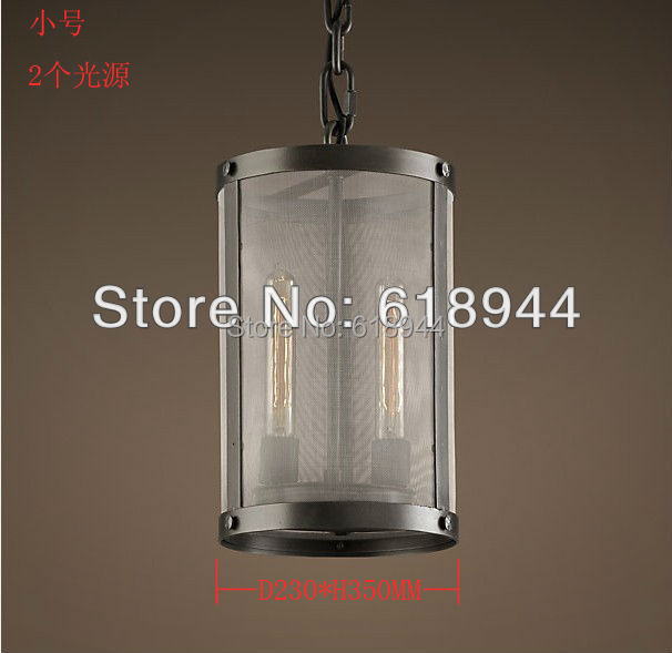 American country style loft industrial iron cylinder lamps living room lamp house lights pendant light fixtures(China (Mainland))