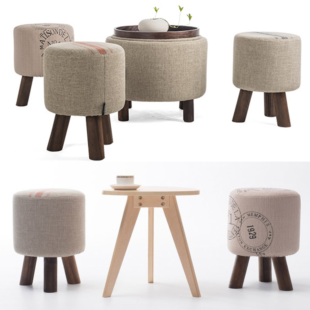 Fashion shoes stool wood ottoman stool dressing minimalist for Furniture in fashion
