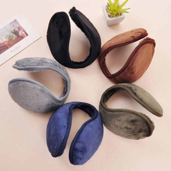 1 PCS New Unisex Men Women Soft Fleece Winter Warm Earmuffs Ear Warmers Grip Earflap 5 Colors(China (Mainland))