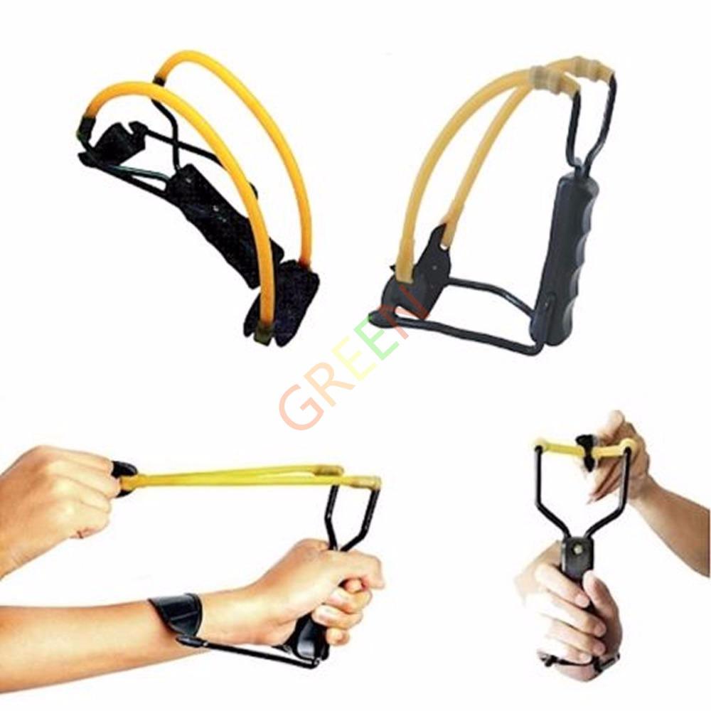 1pc Folding Wrist Sling Shot Slingshot High Velocity Brace Hunting Catapult Outdoor Powerful Tool Wrist-lock(China (Mainland))