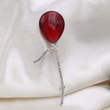 Merah Pohon Merek Kualitas Tinggi Pria Bros Pin untuk Pakaian Fashion Balon Bros untuk Pria Mantel Perhiasan Aksesoris(China)