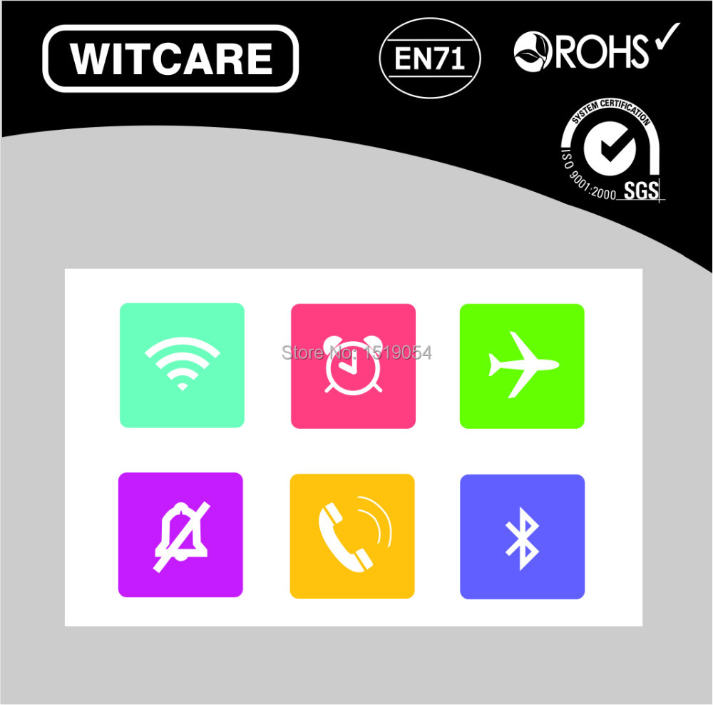 ( 6pcs/Lot) best quality cool smart NFC TAGS NTAG203  NFC stickers for all NFC mobile phone<br><br>Aliexpress