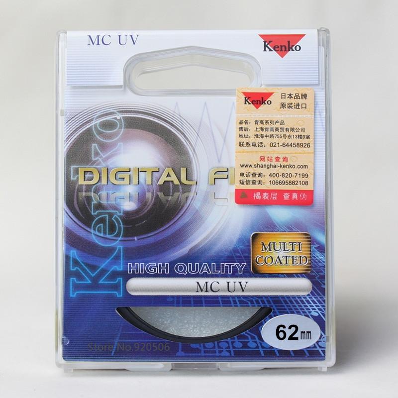 Kenko 62mm MC UV Multilayer Coating Camera UV Filter For Pentax Canon Nikon Sony Olympus Leica Camera Lens(China (Mainland))