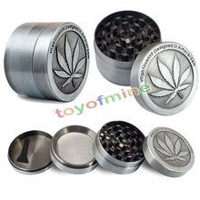 vintage 3-4 layer Leaf Magnetic desigh metal herb grinder tobacco grinder crusher gadgets(China (Mainland))