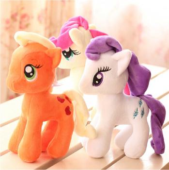 """1 шт. / lot 7 """" 18 см наполненный животное продавать плюш игрушка маленькая пони плюш лошадь игрушки для детей префект"""