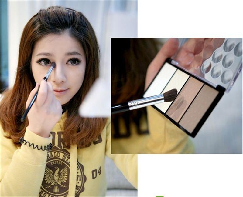 4 cores de maquiagem pressionado destaque pó Contour Shading pó Bronzer cosméticos