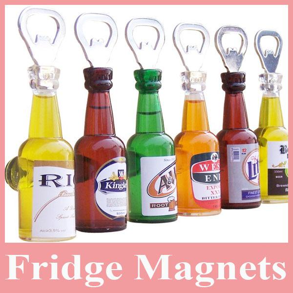 Hot sell 10pcs fashion beer bottle opener magnet decorative refrigerator magnets fridge - Beer bottle opener fridge magnet ...
